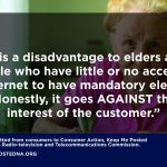Seniors and Consumer Groups Petition to Cabinet: Restore Paper Billing for Koodo Wireless Customers!